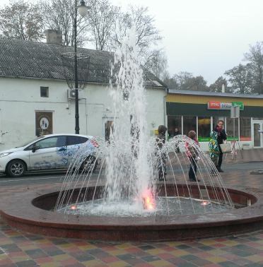 Town Fountain in Pagegiai
